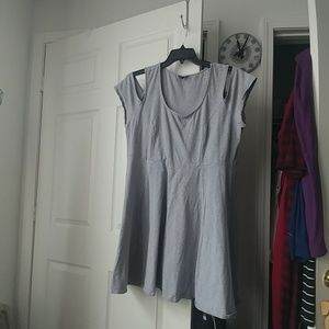 Torrid cold shoulder skater dress